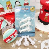 PME Mini Snowflake Plunger Cutters Set/3