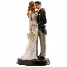 Wedding Couple Kissing Cake Topper