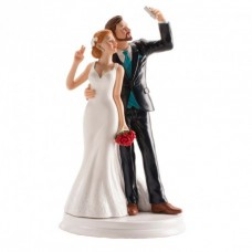Wedding Couple Selfie Cake Topper