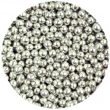 4mm Metallic Silver Pearls 80g