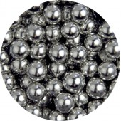 6mm Metallic Silver Pearls 70g