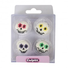 Edible Party Skull Pipings Pk/12