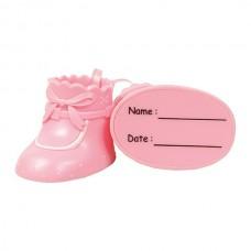 Pink Cake Star Plastic  Booties