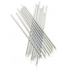 Silver Metallic Candles Extra Tall Pk/16