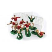 Red Footballers Cake Decoration Kit Set/9