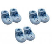 Blue Booties Sugarcraft Toppers Pk/3 Pairs