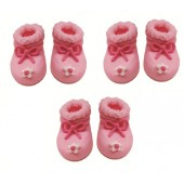 Pink Booties Sugarcraft Toppers