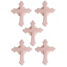Pink Cross Sugarcraft Toppers Pk/5