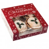 Square Mince Pie Christmas Snowflakes Box