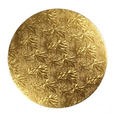 "Gold 10"" Round Double Thick Card"