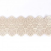 Ready Made Pearl Cake Lace Strips-Vintage Pk/1