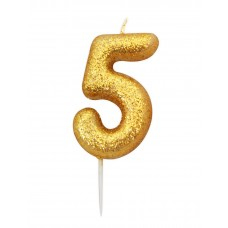 '5' Gold Glitter Candle