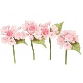 House of Cake Mini Rose Spray - Pink Set/4