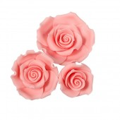 Mixed Light Pink Sugar Soft Roses Pk/12