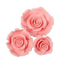 Mixed Light Pink Sugar Soft Roses Pk/12