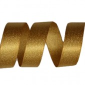 15mm Old Gold Sparkle Ribbon