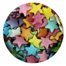 Large Rainbow Glimmer Sugar Stars 60g