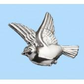Silver Plastic Dove