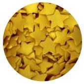 Large Gold Glimmer Sugar Stars 60g