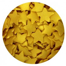 Large Gold Glimmer Sugar Stars 60g