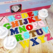Large Cake Star Easy Push Alphabet Cutters- Upper Case