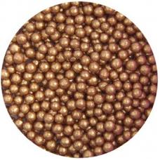 4mm Bronze Glimmer Pearls 80g