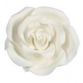 63mm White Sugar Soft Roses Pk/8
