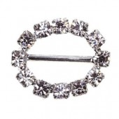 Oval Diamante Buckle 18mm