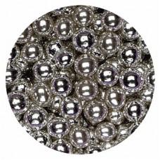 8mm Metallic Silver Pearls 80g