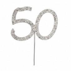 Diamante '50' topper