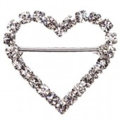 Heart Diamante Buckle 23mm