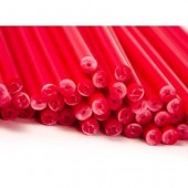"6"" Red Cake Pop Sticks Pk/50"