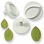 PME Ex Lg Veined Rose Leaf Plunger Set/3