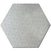"Hexagon Silver Cake Drum 8"""