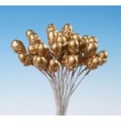 Gold Acorn Stamens Pk/12