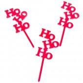 Ho Ho Ho CupcakeToppers - Acrylic Pk/6