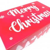 Red Merry Christmas Cupcake Boxes 6's