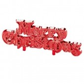 Plastic Red Merry Christmas Motto