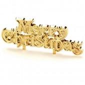 Plastic Gold Merry Christmas Motto