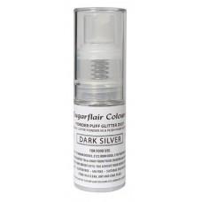 Sugarflair Powder Puff Glitter - Dark Silver
