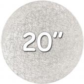 """Round Silver Drum 20"""""""