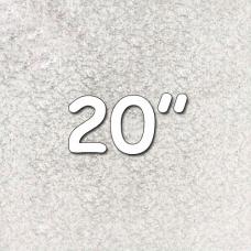 """Square Silver Drum 20"""""""