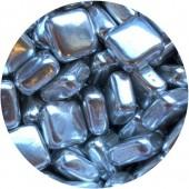 Silver Metallic Squares 80g
