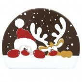 Belgian Chocolate Santa & Rudolf Log Ends