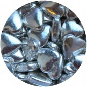 Silver Metallic Hearts 80g