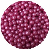 4mm Deep Pink Glimmer Pearls 80g