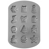 Wilton 12 Cavity Christmas Baking Tin