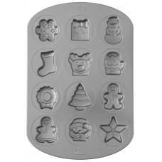 Wilton 12 Cavity Christmas Baking Tin