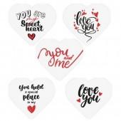 Belgian Chocolate Valentines Heart Decorations Pk/5