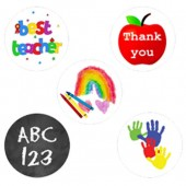Thank You Teacher Cupcake Toppers - 15 x 2""